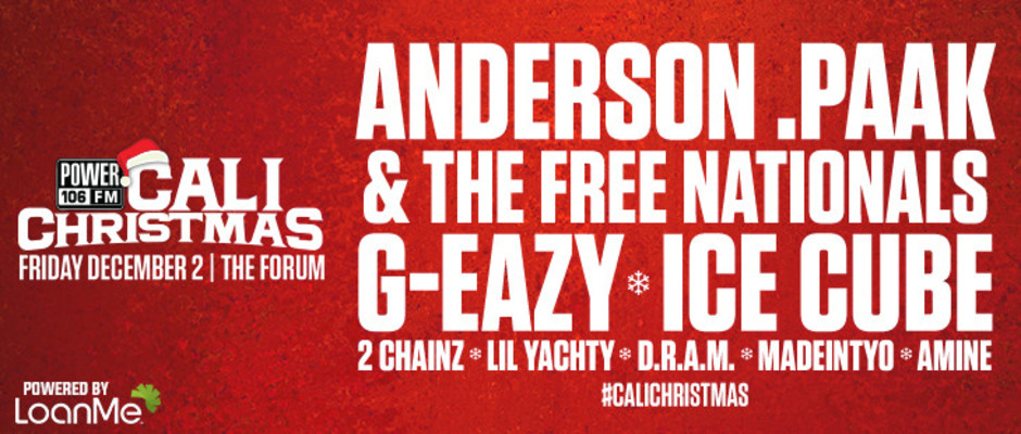 power 106 presents cali christmas the forum december 2 2016 2016 la hip hop events